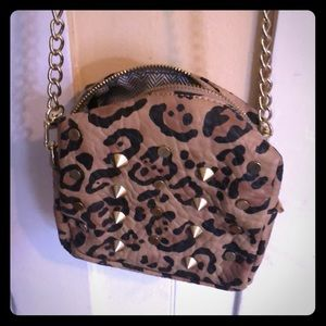 Leopard Steve Madden cross body purse